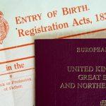 A digital birth certificate before scanning.